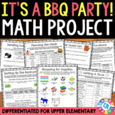 BBQ Party Math Project: Solve Real World Math Word Problems Distance Learning