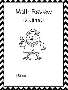 End of the Year Math Review Journal