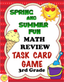 End of the Year Math Review Game: Spring and Summer Practice: 3rd Grade