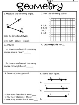 End- of- the- Year Math Review/Summer Practice Packet/Test Prep