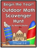 Beginning of the Year/ End of the Year Math Scavenger Hunt for Grades 3-5