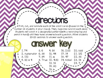 1st Grade Math Round-up: A Scoot-Style Review {CCSS Skills}