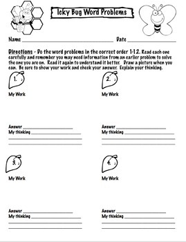 End of the Year Math Word Problem Activities for 4th and 5th Grade