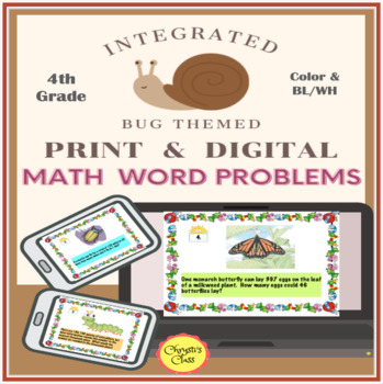 End of the Year Math Word Problem Activities for 4th and 5