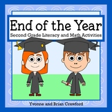 End of the Year Math and Literacy Activities Second Grade Distance Learning
