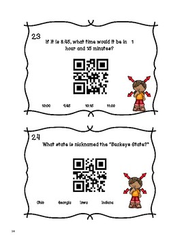 End of the Year Math and Trivia With QR Codes