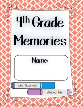 End of Year Activities - Memory Book - 3rd through 6th Grades