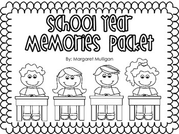 End of the Year Memories Packet
