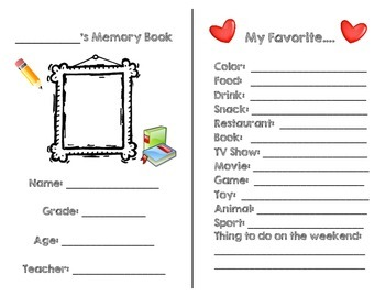 End-of-the-Year Memory Book