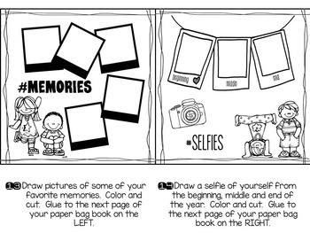 End of the Year Paper Bag Memory Book