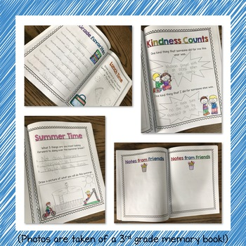 End of the Year Memory Book - 2nd grade