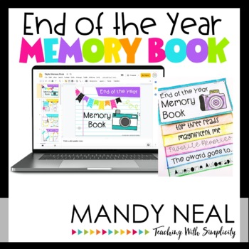 end of year memory book end of the year memory book by mandy neal teachers pay 6533
