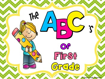 End of the Year Memory Book {ABC's of First Grade}