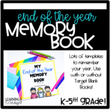 End of the Year Keepsake Memory Book TARGET BOOKS