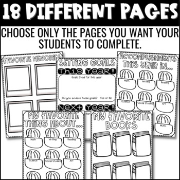 End of the Year Activity | Memory Book: Cactus Themed {Grades 3-6}