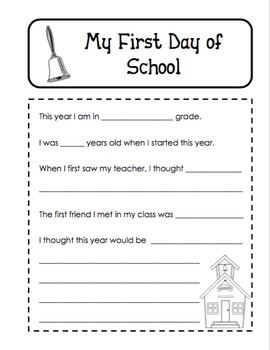 Beginning and End of the Year Memory Book Activity Year in Review Memories