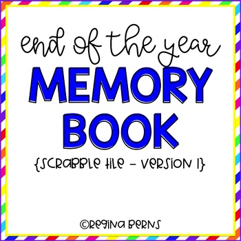 End of the Year Memory Book! B&W and in Color!!