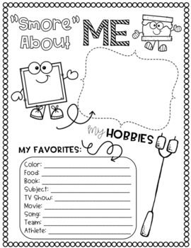 End of the Year Memory Book- Camping Themed Grades 2-6