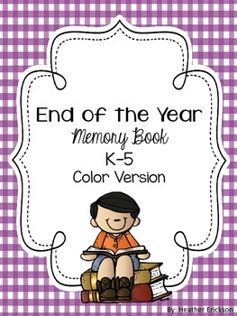 End of the Year Memory Book Color