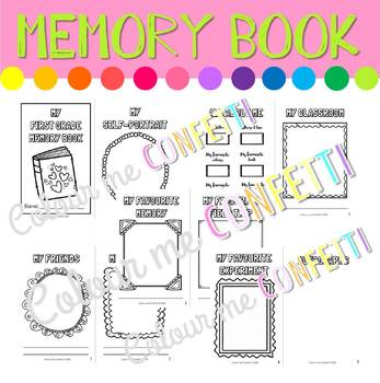 End of the Year Memory Book - Colour me Confetti
