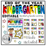 End of the Year Memory Book Covers: Kindergarten