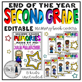 End of the Year Memory Book Covers: Second Grade