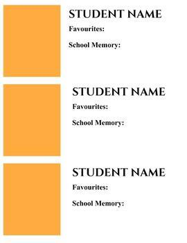End of the Year Memory Book Digital Templates