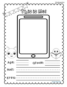 End of the Year Memory Book Emoji Themed for K-1