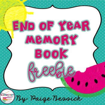 End of the Year Memory Book FREEBIE