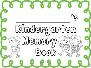 End of the Year Memory Book  FREEBIE - KINDERGARTEN