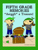 Fifth Grade Memory Book: Pirate Theme