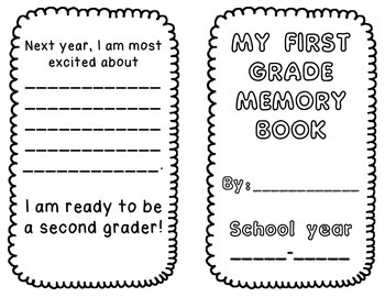 End of the Year Memory Book {First Grade)