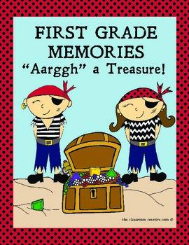 First Grade Memory Book: Pirate Theme