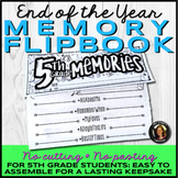 End of the Year Memory Book Flipbook for 5th Grade Distance Learning