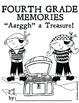 Fourth Grade Memory Book: Pirate Theme