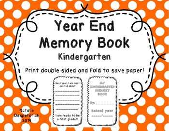 End of the Year Memory Book {Kindergarten)