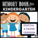 Digital and Paper End of Year Memory Book - Kindergarten