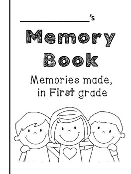 {End of the Year} - Memory Book -- Kindergarten through Fifth grade