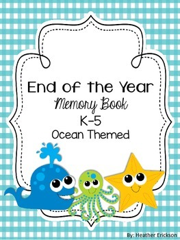 End of the Year Memory Book Ocean Themed