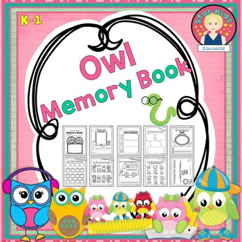End of the Year Memory Book Owl Themed for K-1