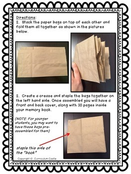 Memory Book: End of the Year Paper Bag Activity!