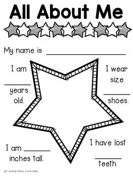 End of the Year Memory Book - Preschool