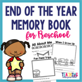 End of the Year Memory Book - Preschool
