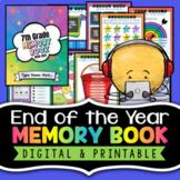 End of the Year Memory Book   Printable & Digital Memory B
