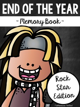End of the Year Memory Book ~ Rock Star Edition ~ 1st Grade