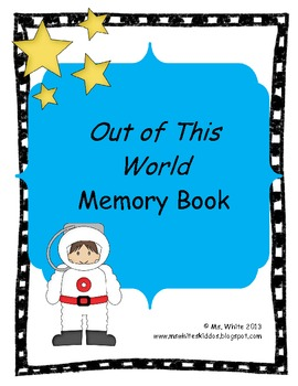 End of the Year Memory Book: Space Themed