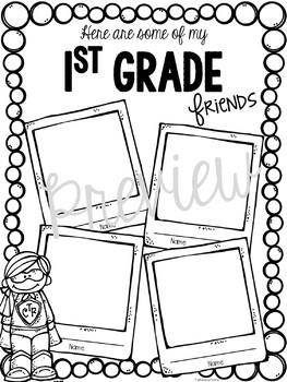 End of the Year Memory Book ~ Super Hero Edition ~ 1st Grade