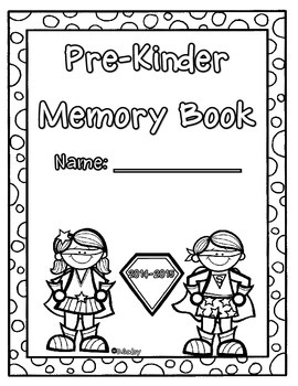 End of the Year Memory Book (Superhero) Pre-Kinder