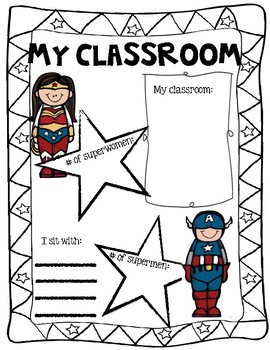 End of the Year Memory Book-Superhero Themed!