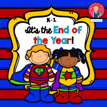 End of the Year Memory Book Superhero Themed for K-1